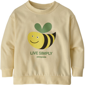 Patagonia Lightweight Sudadera Cuello Redondo Niños, live simply bee cool man/white wash
